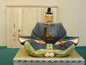 木彫彩色人形